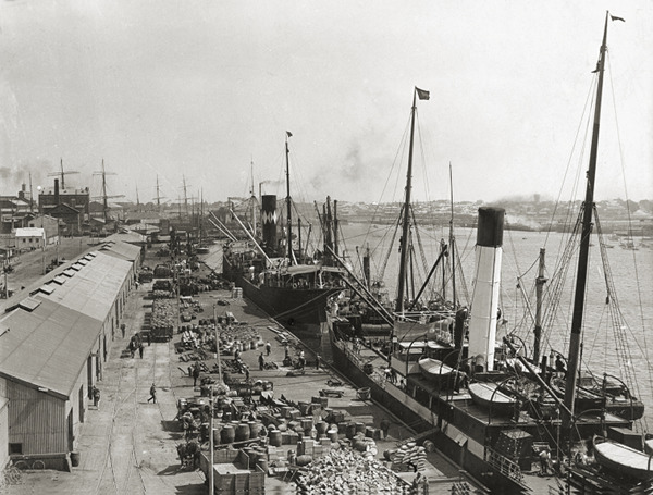 View of a Harbour Terminal before Containers existed